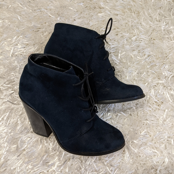 Call it Spring  Blue Suede style Booties